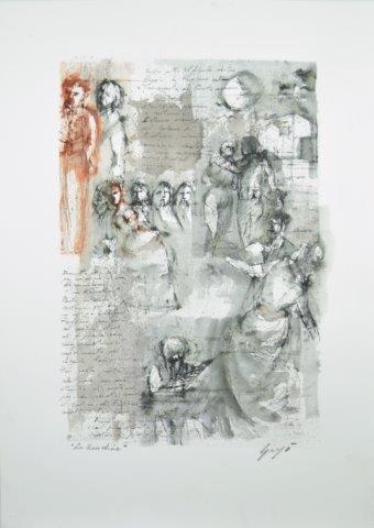 Paolo Grigò, La Rondine, inchiostri su carta cm 70×50, 2017