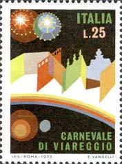 francobollo carnevale di Viareggio 1993