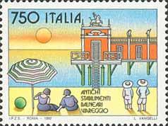 francobollo stabilimenti balneari 1992
