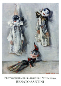 39 - 2014 Maschere di Renato Santino Protagonista dell'Arte del Novecento - fronte