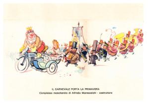 49 - 2014 Il Carnev. porta la primavera - Complesso mascherato Alfredo Morescalchi - Cart Post - retro