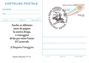 Cartolina Postale - Municipio - retro